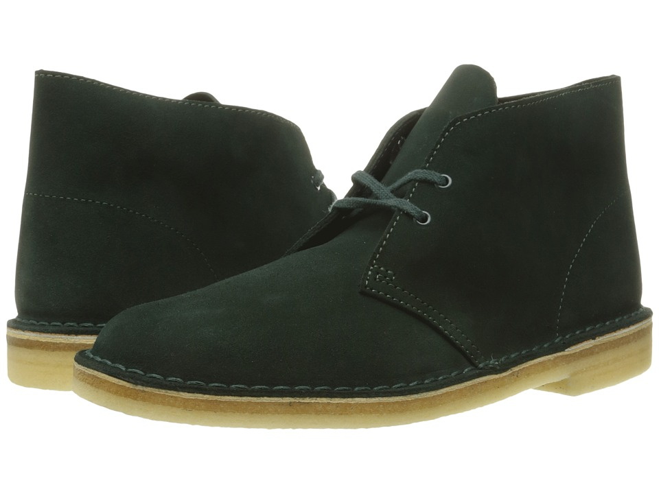 Clarks - Desert Boot (Dark Green Suede) Men