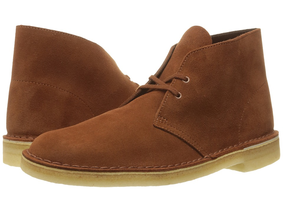 Clarks - Desert Boot (Dark Tan Suede) Men