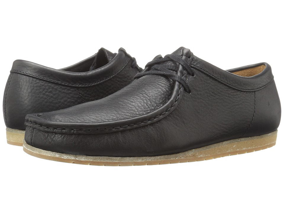 Clarks - Wallabee Step (Black Leather) Men's Shoes