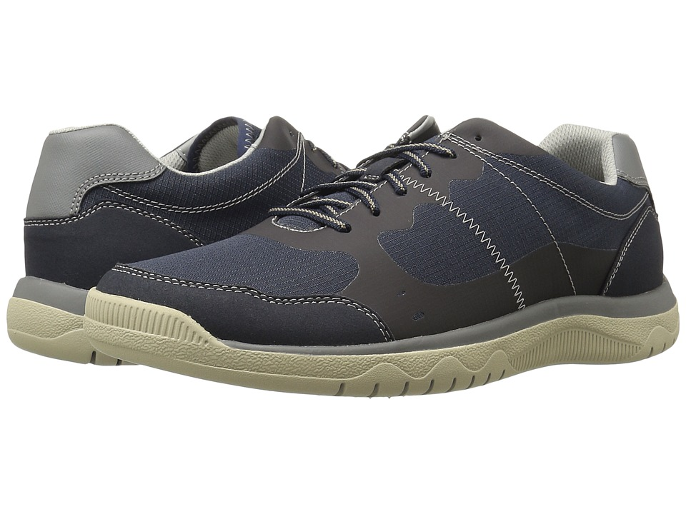 Clarks - Votta Edge (Navy Synthetic/Taupe) Men