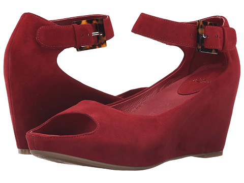Johnston & Murphy Tricia Ankle Strap - Dark Red Kid Suede