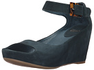 Johnston & Murphy - Tricia Ankle Strap (Teal Kid Suede)