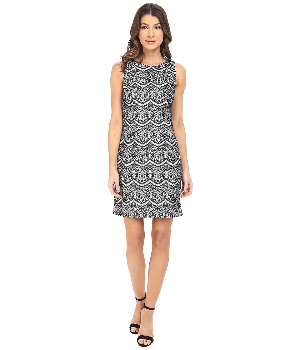 Jessica Simpson - Bonded Lace Dress (Black/White) Womens Dress