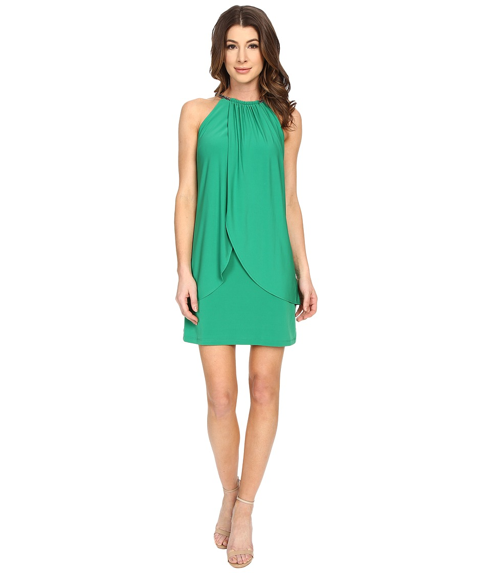 Jessica Simpson Ity Dress with Embellished Halter Necklace Green Womens Dress