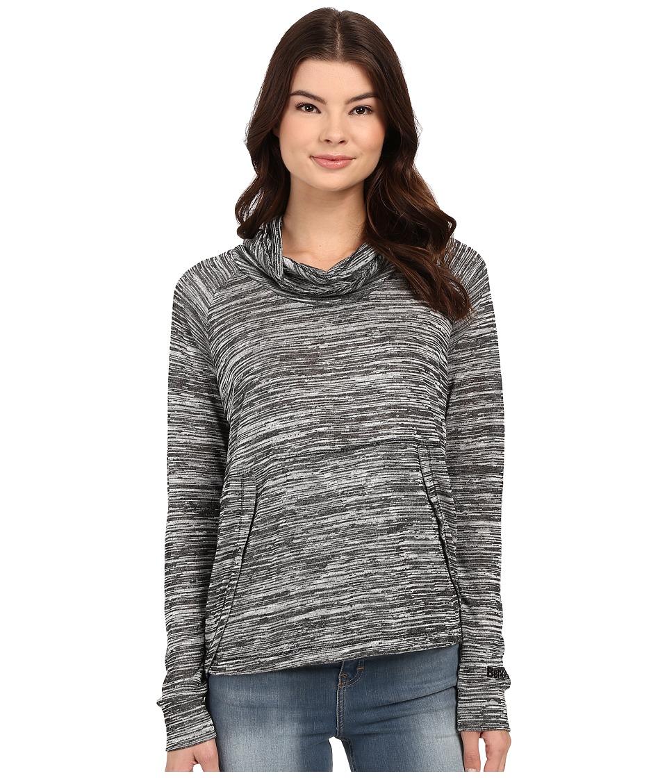Bench Breeze Overhead Cowl Neck Sweatshirt Jet Black Womens Sweatshirt