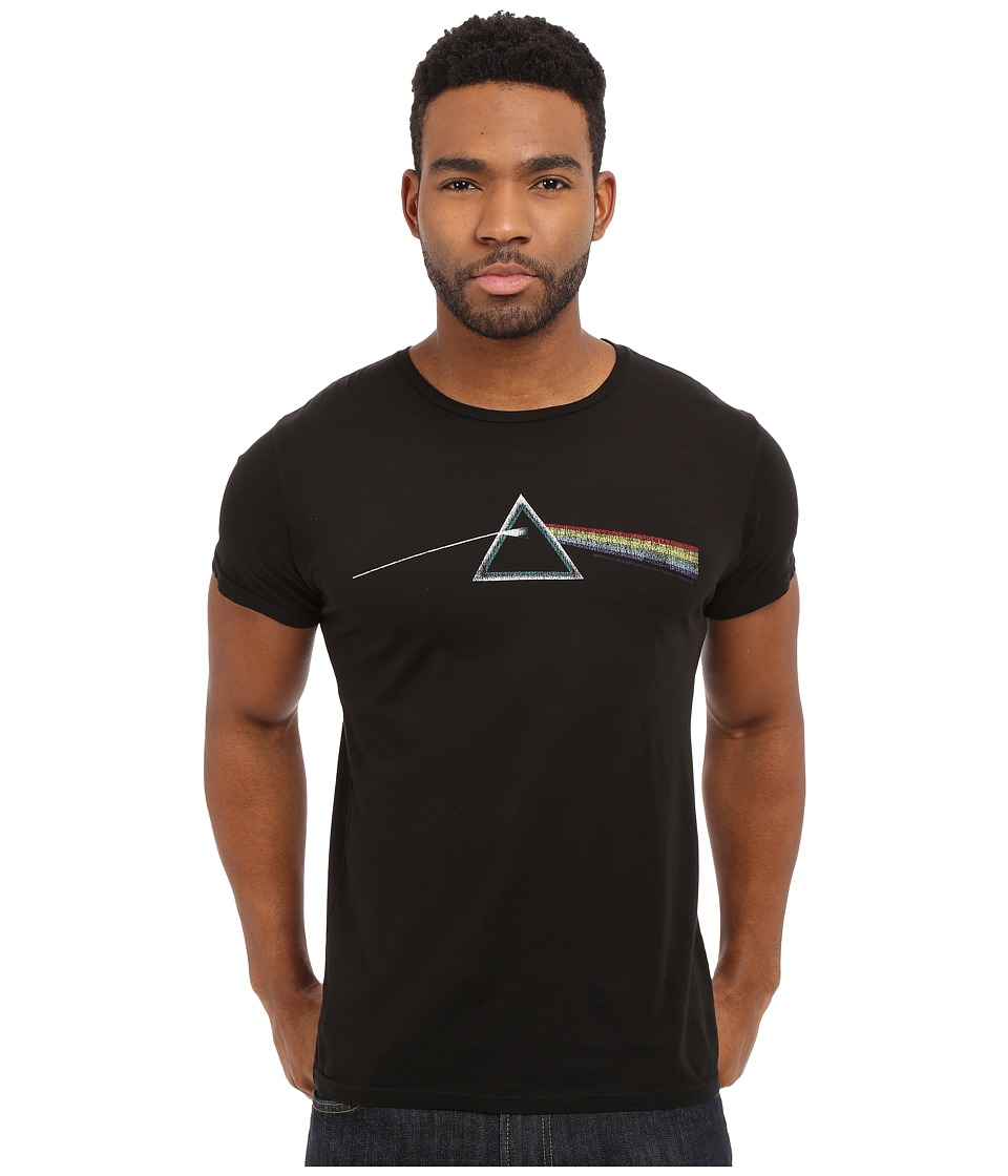 1960s Style Men's Clothing, 70s Men's Fashion The Original Retro Brand - Vintage Cotton Short Sleeve Pink Floyd Tee Black Mens T Shirt $38.00 AT vintagedancer.com