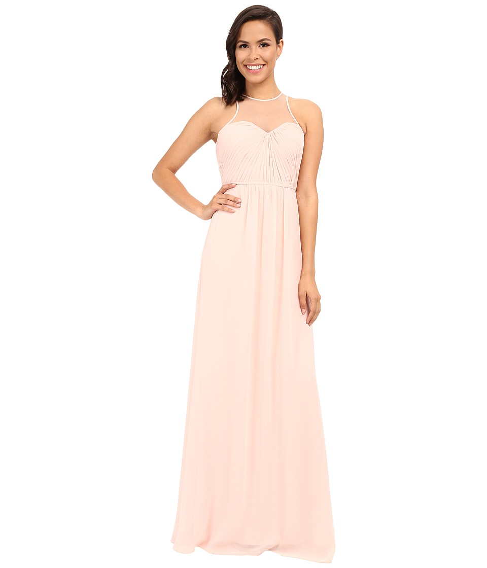 Faviana Chiffon Gown with Illusion Sweetheart Neckline/Rouched Bodice Keyhole Back 7774 Cameo Womens Dress