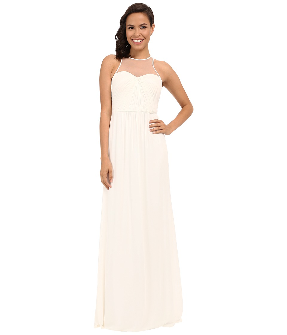 Faviana - Chiffon Gown with Illusion Sweetheart Neckline/Rouched Bodice Keyhole Back 7774 (Ivory) Womens Dress