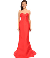 Faviana - Strapless Sweetheart Satin Fit & Flare Gown w/ Panel Detailing 7753