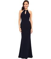 Faviana - Jersey Halter Gown w/ Keyhole Detailing & Bearded Backstrap 7781