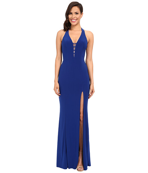 Faviana V-Neck Chiffon Dress 7540 - Royal