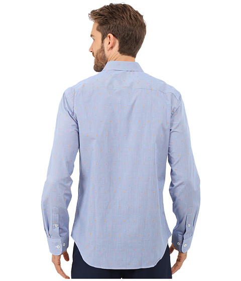 bugatchi nice shaped fit long sleeve woven shirt at