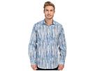 Bugatchi Brush Stroke Classic Fit Long Sleeve Woven Shirt (Classic Blue)