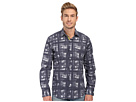 Bugatchi Milan Shaped Fit Long Sleeve Woven Shirt (Midnight)