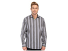 Bugatchi Vegas Classic Fit Long Sleeve Woven Shirt (Black)