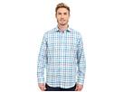 Bugatchi Amalfi Classic Fit Long Sleeve Woven Shirt (Teal)