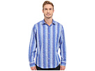 Bugatchi Pompeii Classic Fit Long Sleeve Woven Shirt (Classic Blue)
