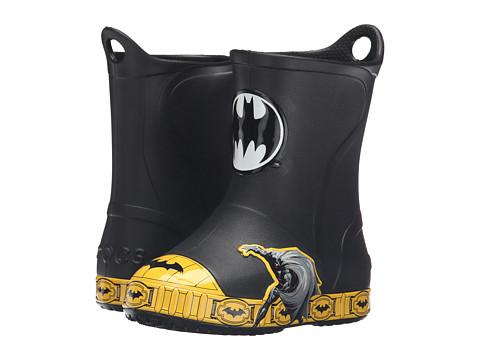 Crocs Kids Bump It Batman Boot (Toddler/Little Kid) - Black