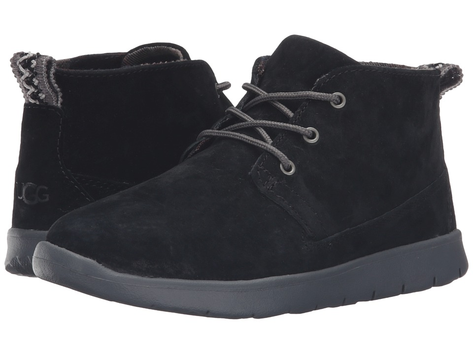 UGG Kids - Canoe Suede (Toddler/Little Kid/Big Kid) (Black) Boys Shoes