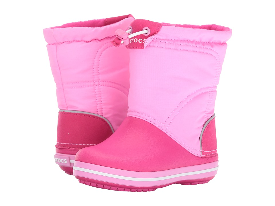 Crocs Kids Crocband Lodge Point Boot (Toddler/Little Kid) (Candy Pink/Party Pink) Girls Shoes