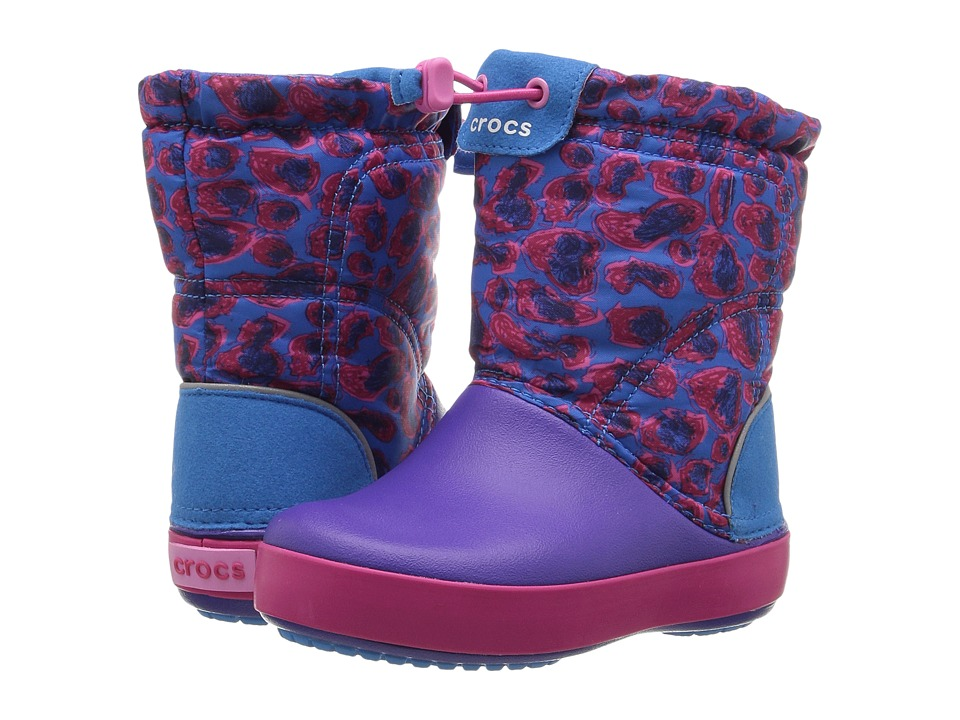 Crocs Kids Crocband Lodge Point Graphic Boot (Toddler/Little Kid) (Leopard) Girls Shoes