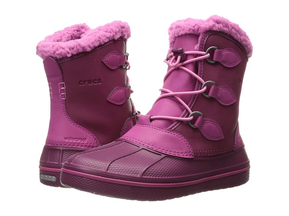 Crocs Kids AllCast II Boot (Toddler/Little Kid) (Berry) Girls Shoes