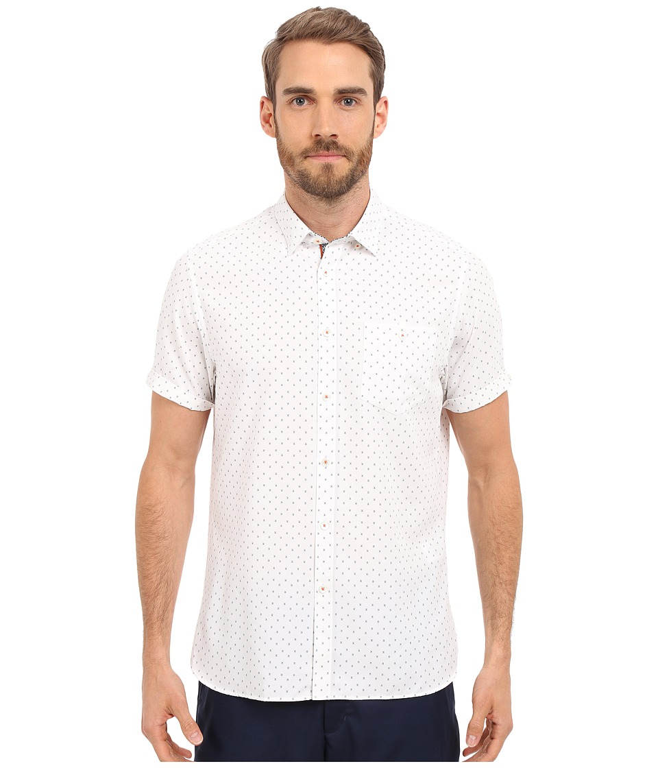 Ted Baker Everyone Short Sleeve Modal Shirt White Mens Clothing