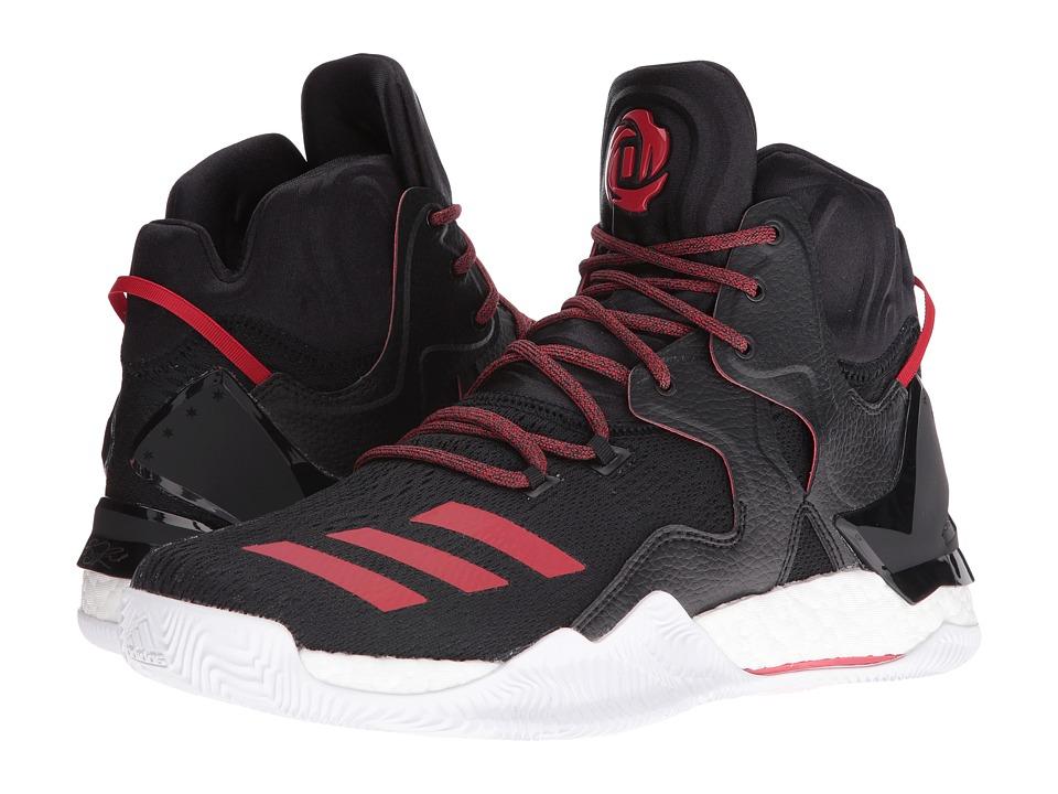 adidas - D Rose 7 (Core Black/Scarlet/Core Black) Men