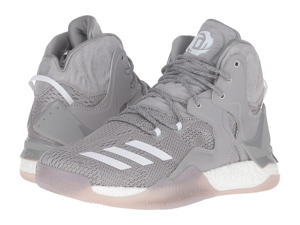 adidas - D Rose 7 (Medium Grey Heather/White/MGH Solid Grey) Men