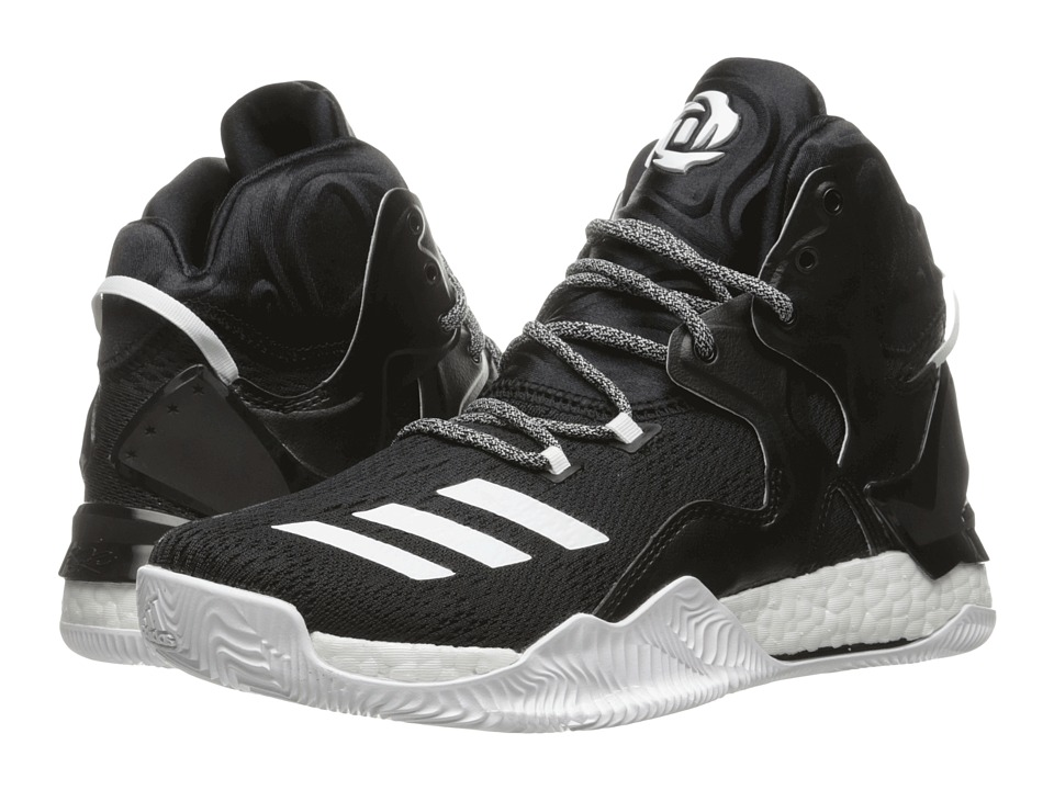adidas - D Rose 7 (Core Black/White/Core Black) Men