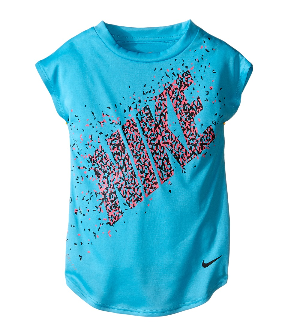 Nike Kids Facet Dri FIT Modern Tee Toddler Gamma Blue Girls T Shirt