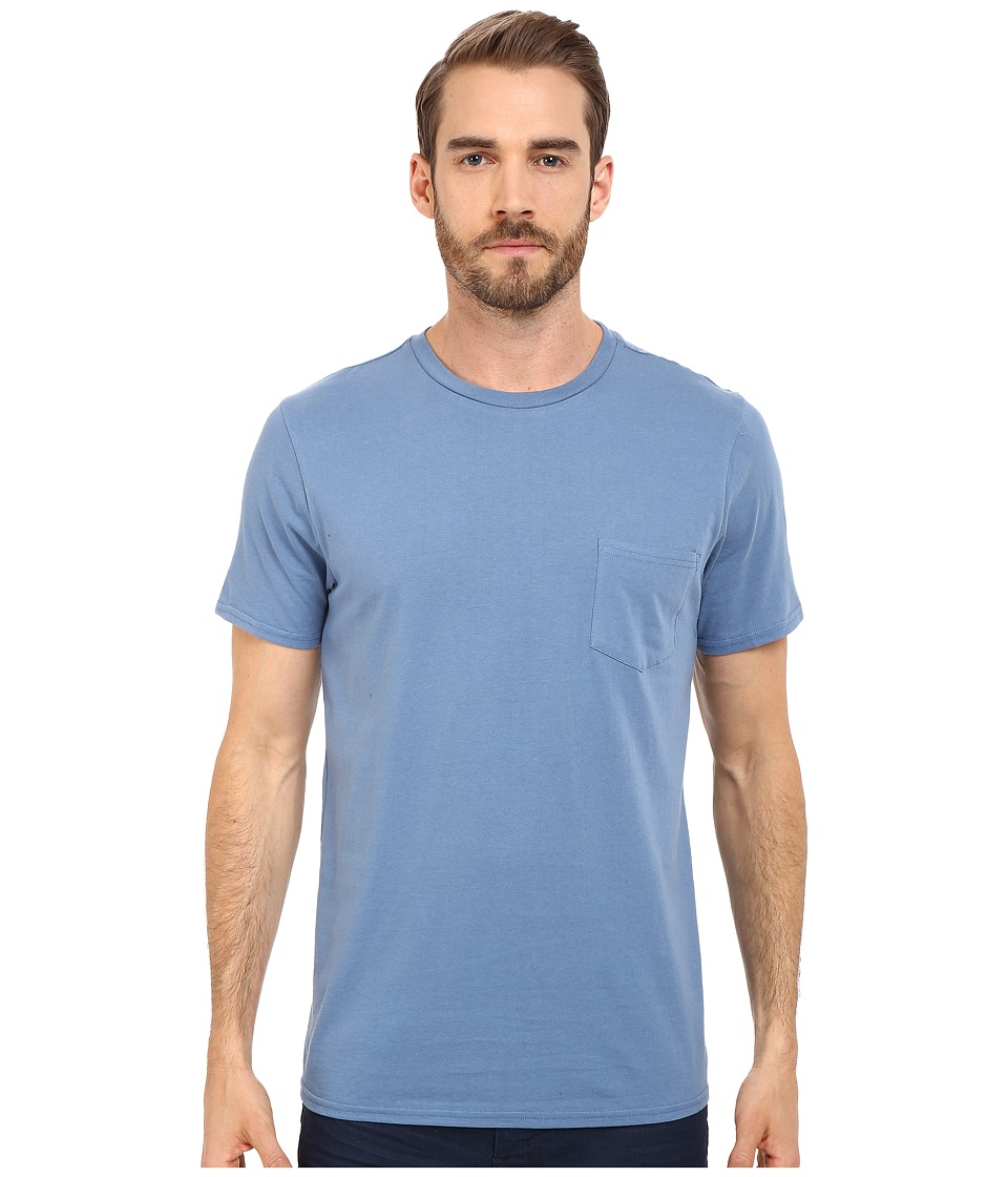 Threads 4 Thought Baseline Pocket Crew Tee Moroccan Blue Mens T Shirt