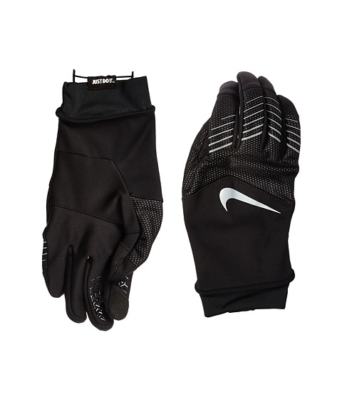Nike Storm-Fit Hybrid Run Gloves - Black/Silver