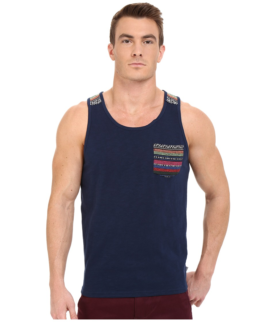 Threads 4 Thought Baja Jaquard Pocket Tank Top Dark Berry Mens Sleeveless