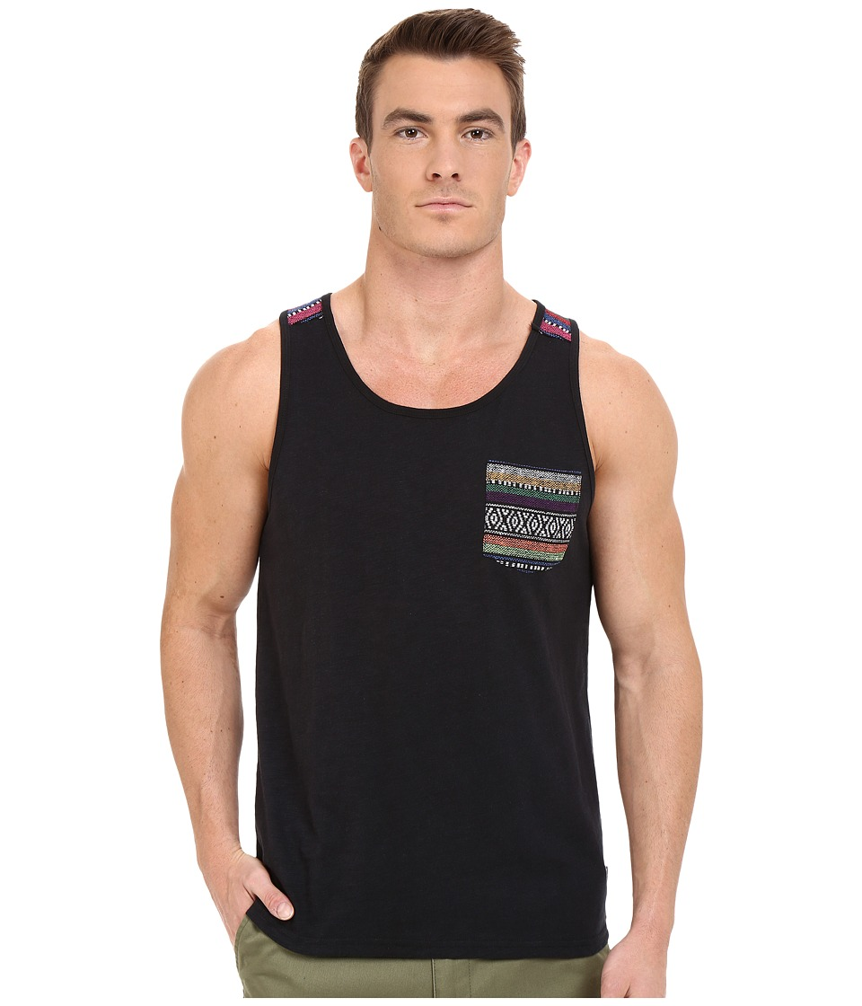 Threads 4 Thought Baja Jaquard Pocket Tank Top Raven Mens Sleeveless
