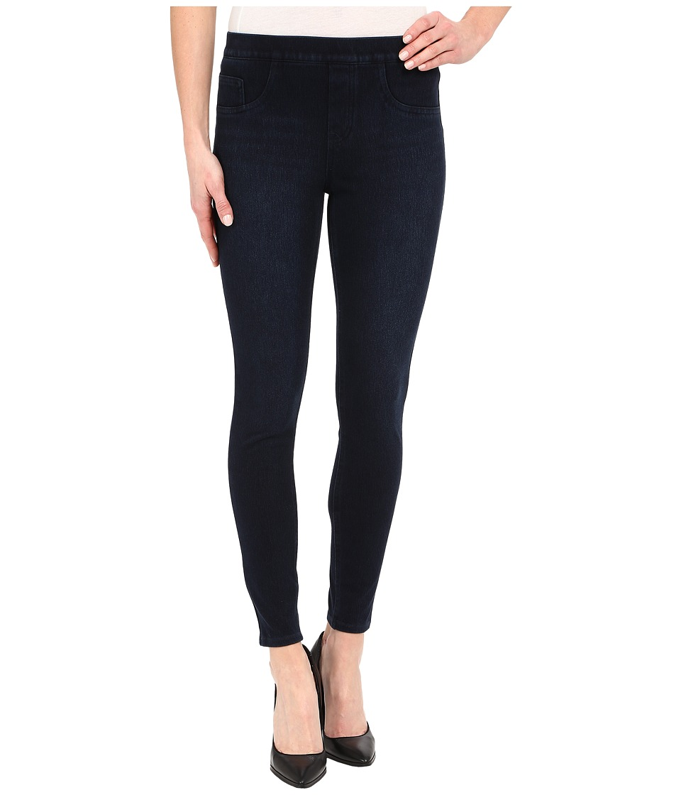 Spanx Cut Sew Cropped Knit Leggings Dark Indigo Womens Clothing