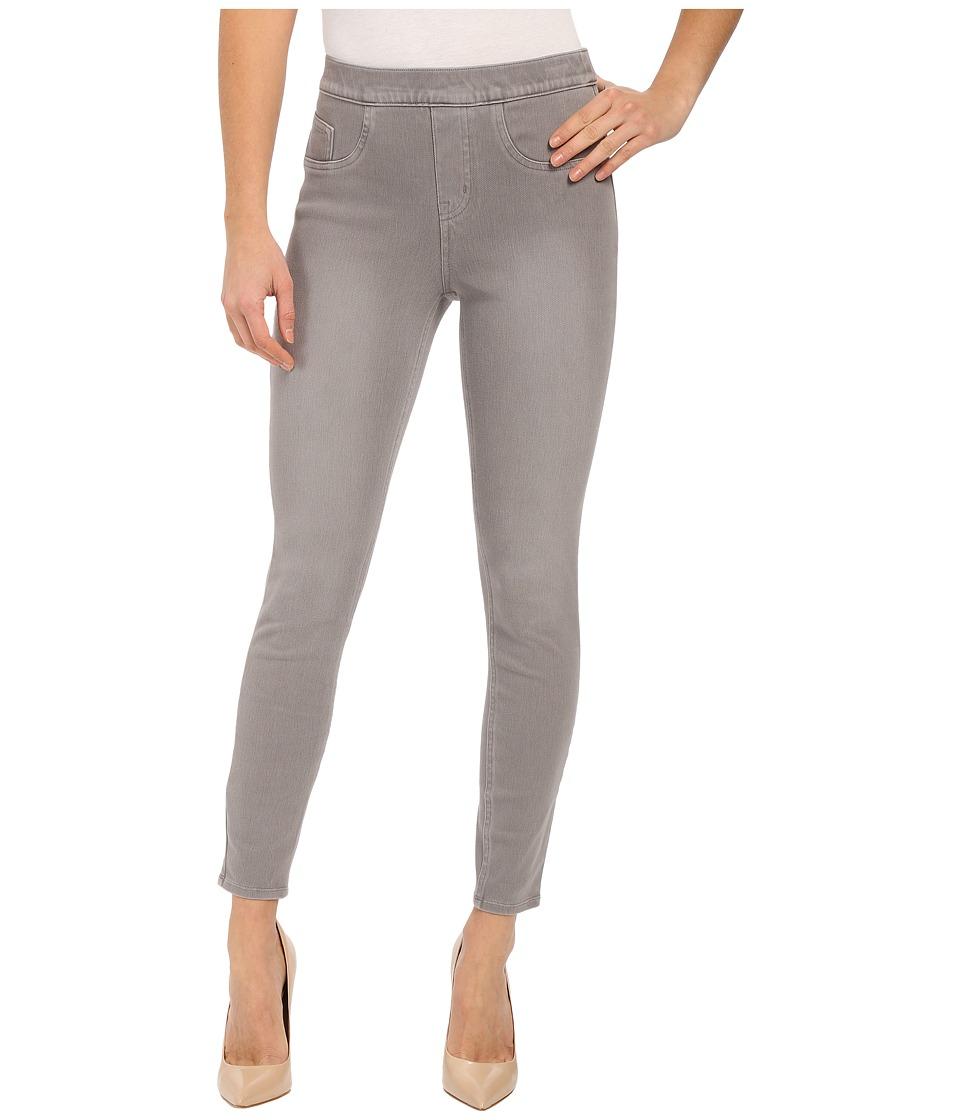 Spanx Cut Sew Cropped Indigo Knit Leggings Moon Grey Womens Clothing