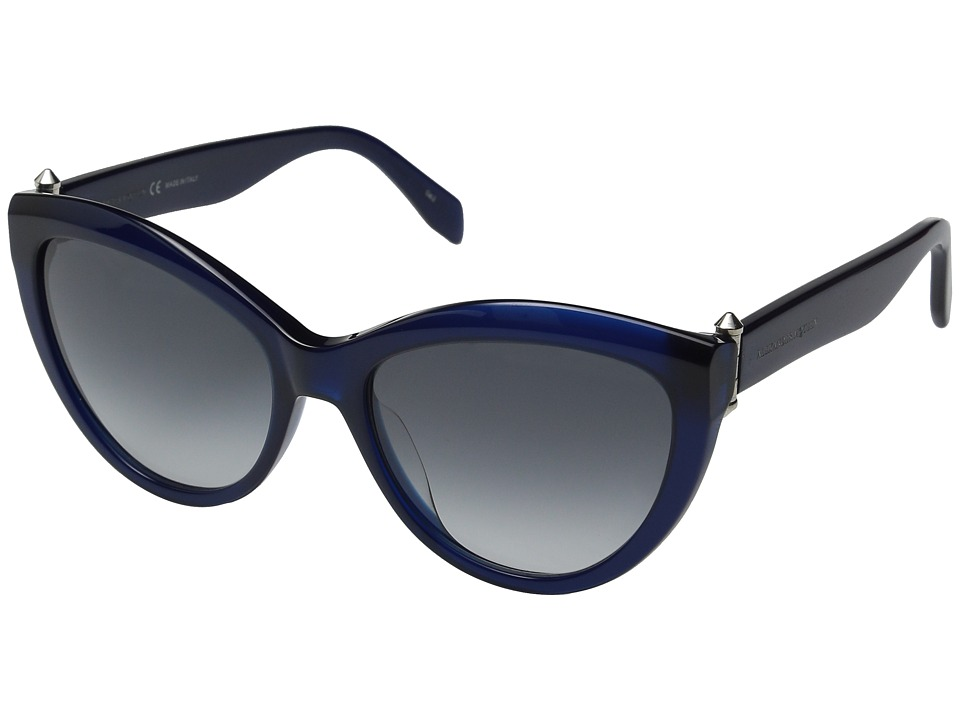 Alexander McQueen AM0003S Blue Opale/Blue Gradient Fashion Sunglasses