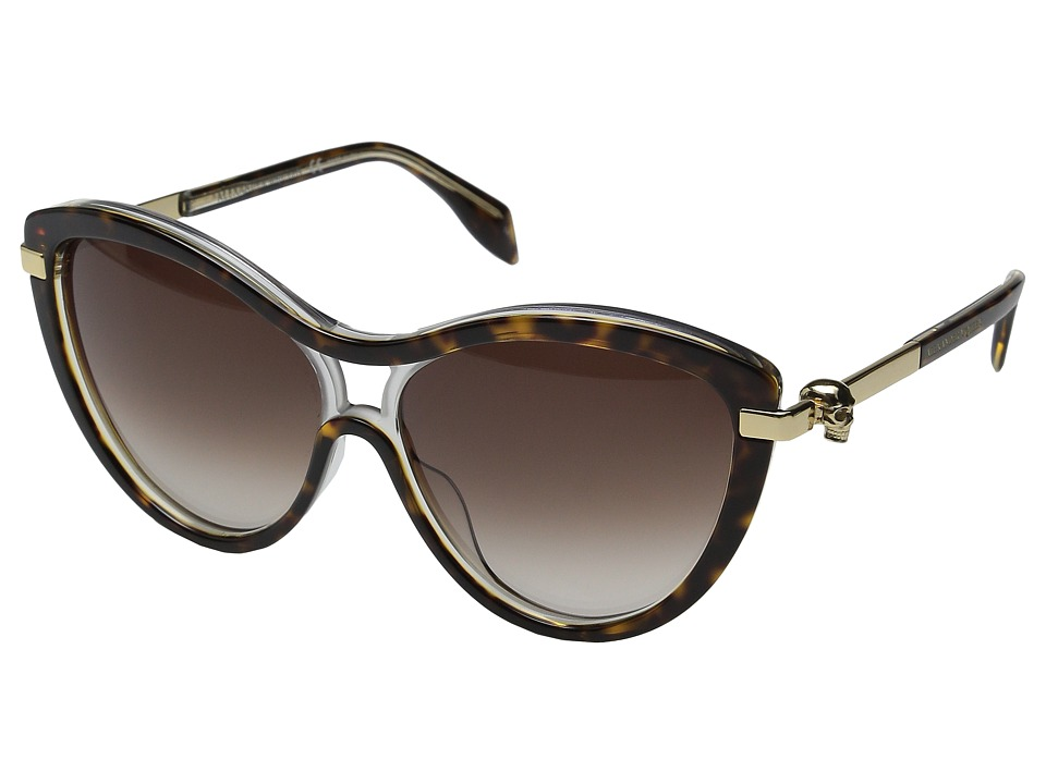 Alexander McQueen AM0021S Havana/Brown Gradient Fashion Sunglasses