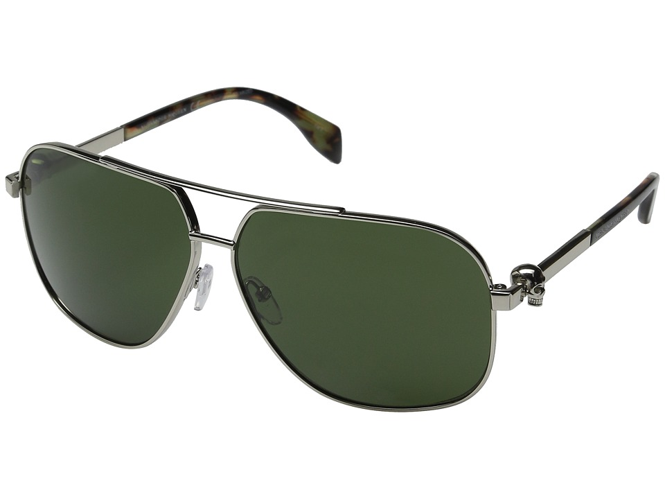 Alexander McQueen AM0019S Silver/Green Fashion Sunglasses