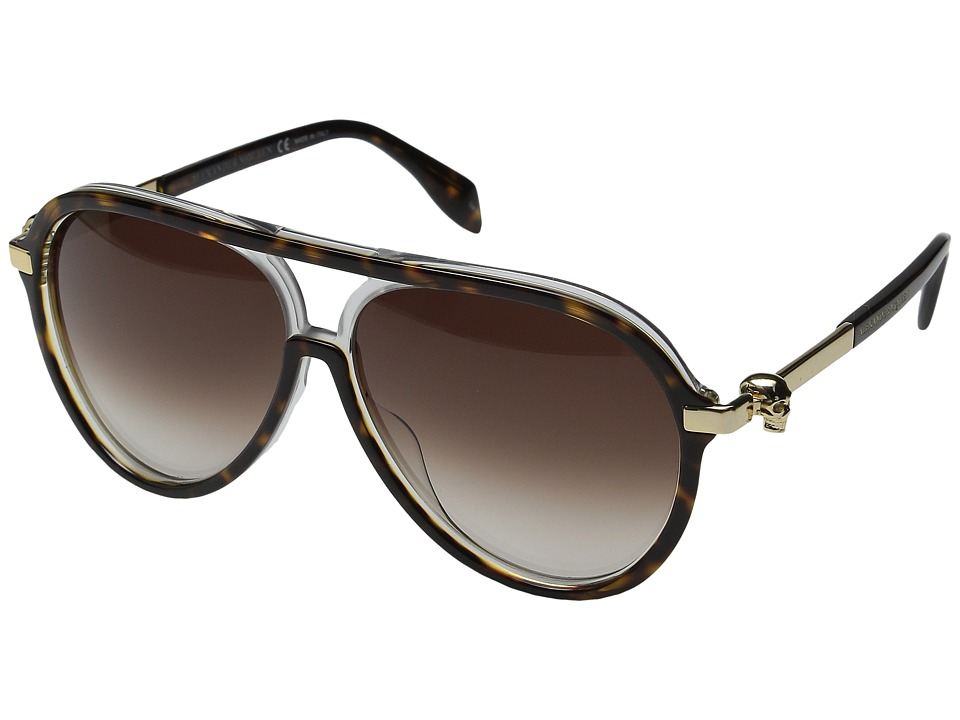 Alexander McQueen AM0020S Havana/Brown Gradient Fashion Sunglasses