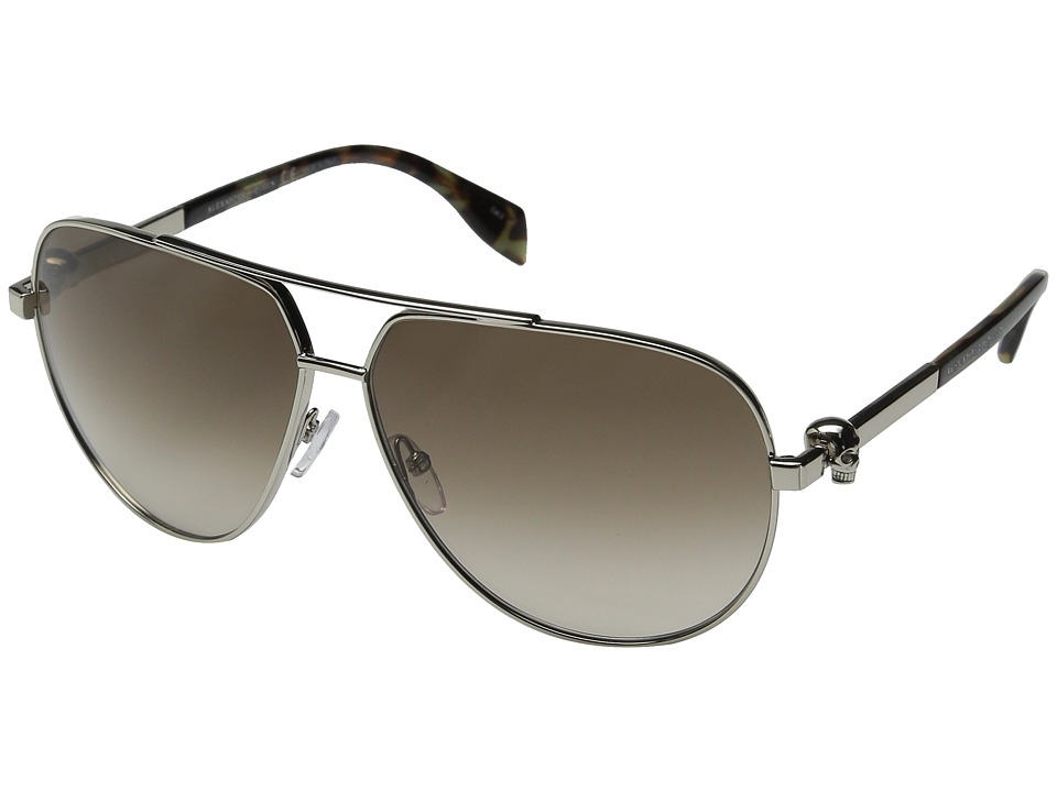 Image of Alexander McQueen - AM0018S (Gold/Brown) Fashion Sunglasses