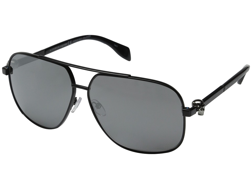 Alexander McQueen AM0019S Black/Smoke Fashion Sunglasses