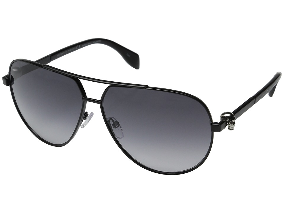 Image of Alexander McQueen - AM0018S (Black/Smoke) Fashion Sunglasses