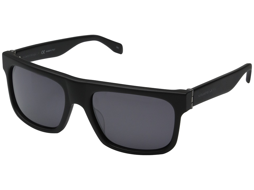 Alexander McQueen AM0037S Black/Silver Fashion Sunglasses