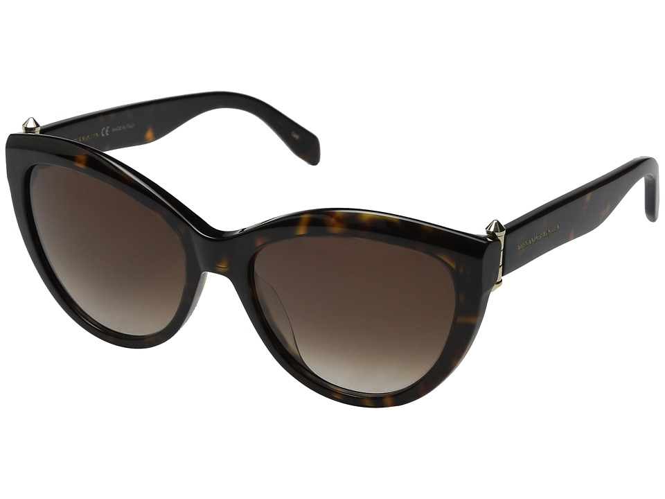 Alexander McQueen AM0003S Havana/Brown Gradient Fashion Sunglasses
