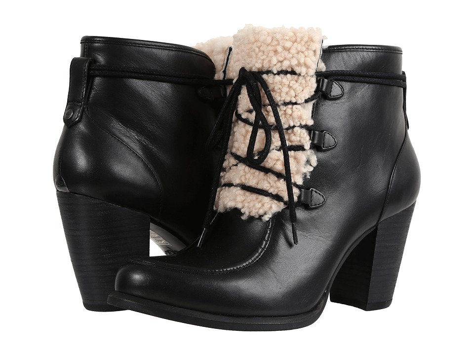 UGG - Analise Exposed Fur (Black/Natural) High Heels