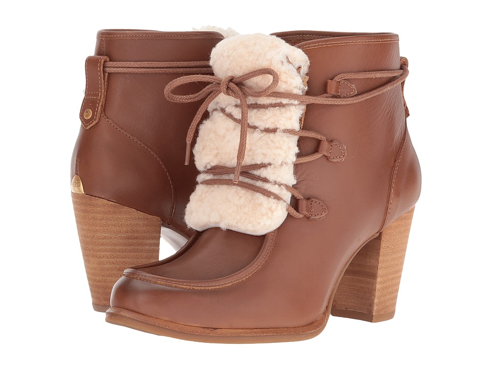 UGG - Analise Exposed Fur (Chestnut/Natural) High Heels