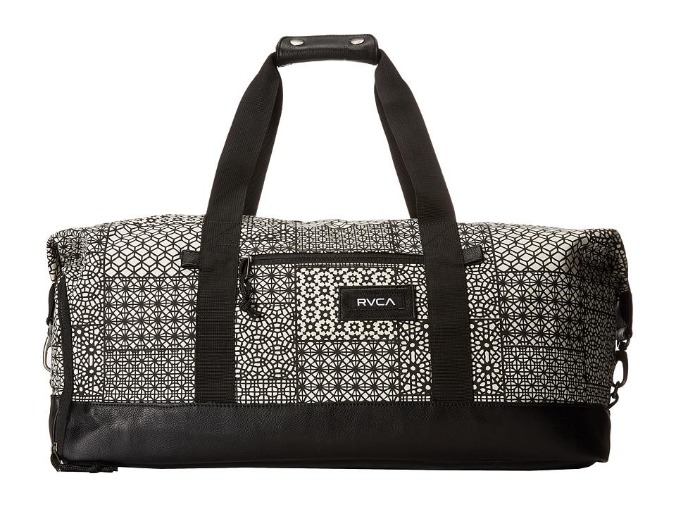 RVCA Away Away Duffel Black/White Duffel Bags