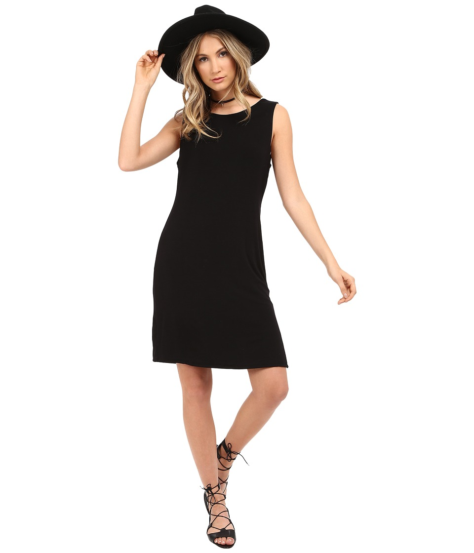 HEATHER Cowl Back Dress Black Womens Dress